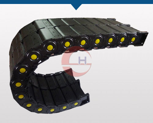 Double Row Engineering Plastic Cable Carrier Chain Protective Wire